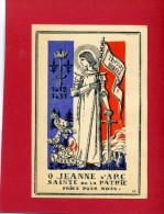 IMAGE PIEUSE PATRIOTIQUE 1940 SAINTE JEANNE D ARC SAINTE DE LA PATRIE DESSIN DE GABRIEL LOIRE VERRIER A CHARTRES VITRAIL - Documenten