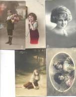 POSTAL DE NIÑOS AÑO 1915 - Grupo De Niños Y Familias