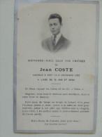 Jean Coste Rappele A Dieu 1922 - Décès