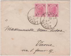 Briefcuvert 1893 Mit 5 Kreuzer Marken Nach Verona - Briefe U. Dokumente