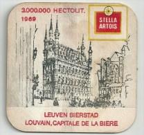 Stella Artois -   Leuven Bierstad 1969 - Beer Mats