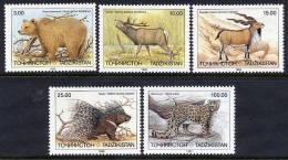TAJIKISTAN 1993 Mammals Set Of 5 MNH / ** - Tajikistan