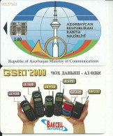 Azerbaijan-republic Os Azerbaijan Ministry Of Communications-140units-used+1 Card Prepad Free - Azerbaïjan