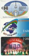 Azerbaijan-(3 Chip Cards)-used+2 Card Prepiad Free