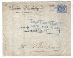 351/500 - REGNO 1928 : 1,25 Per La Germania. PERFIN Credito Italiano Sede Livorno - 1900-44 Vittorio Emanuele III