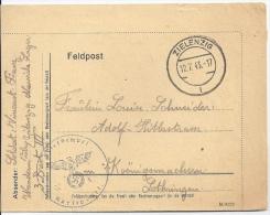 ALLEMAGNE REICH - LETTRE FELDPOST ZIELENZIG 12 JUILLET 1943 - JOLIE LETTRE - Deutschland