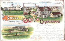 Gruss Aus Langeoog Color Litho Hotel Ahrenholz Abtei Total 18.8.1900 Gelaufen - Langeoog
