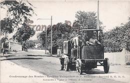 Automobile à Vapeur Camion Service Public - Goudronnage Des Routes - BTP Système Voisembert Et Hedeline - Camions & Poids Lourds