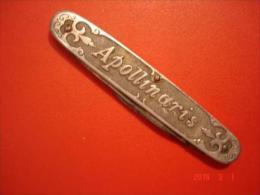Apollinaris Reklame Messer Apenta Jugendstil Ca. 1920 Bad Neuenahr Apollinaris Brunnen Ahr - Werkzeuge