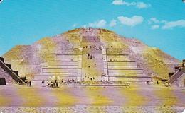 PC San Juan Teotihuacan - Plaza And Pyramid To The Moon - 1984 (6009) - Mexiko
