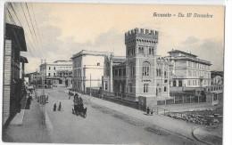 TOSCANA-GROSSETO VIA  IV  QUATTRO NOVEMBRE VEDUTA CARROZZA ANIMATA PRIMI 900 - Grosseto
