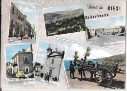 SICILIA-CALTANISSETTA- RIESI VIA ROMA VEDUTE SALUTI DA - Italy
