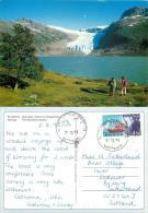 Svartisen Glacier, Norway Norge Postcard Used Posted To UK 1995 Nice Stamp - Norvège