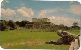 CPSM - Templo De Los Guerreros Y Las Mil Columnas - Chichén Itzà, Yucatan (Mexico)  - 1966 - Mexique