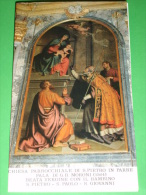 Madonna Bambino,in Trono.S.PIETRO, PAOLO, GIOVANNI Evangelista - Moroni Giovan Battista - Chiesa PARRE,Bergamo - Santino - Images Religieuses