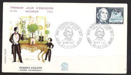 Env Fdc  France 16/10/71 Blois, N°1690 Y Et T, Robert Houdin, Magicien, Illusionniste - 1970-1979