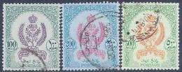Libya, Scott # 204-6 Used Emblems & Crown, 1960 - Libya