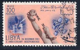 Libya, Scott # 214 Used Independence Anniv., 1961 - Libya