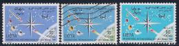 Libya, Scott # 276 MNH, 277 Used, 278 Mint Hinged  World Meteorological Day, 1965 - Libya