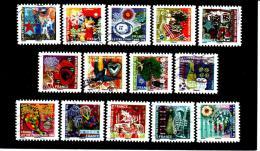 493 Au 506  De  2010 - Adhésif Oblitéré -  MEILLEURS  VOEUX  - Série De 14 Timbres . Multicolore - Autoadesivi