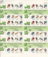 C011 - ETATS UNIS UNITED STATES Yv N°1206/13 FEUILLE ** ANIMAUX ANIMALS ( Registered Shipment Only ) - Ungebraucht