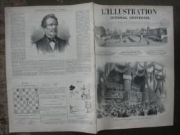 L'ILLUSTRATION 1334 RAIL SIMPLON/ PETROLE LOCOMOTIVE/ CAMP LANNEMEZAN / SIAMOIS 19 Septembre 1868 - 1850 - 1899