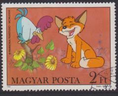 Hungary Mi 3582 Cartoons - Fox And Rooster - Flowers - 1982 - Hongarije