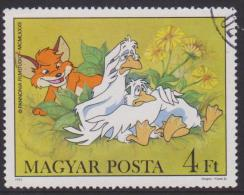 Hungary Mi 3584 Cartoons - Fox And Geese - Flowers - 1982 - Hongarije