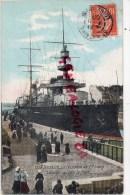 44 - SAINT NAZAIRE - LE CUIRASSE DE 1ER RANG  LIBERTE QUITTE LE PORT 1909 - Saint Nazaire