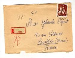 Lettre ,MAGYAR POSTA , HONGRIE , R , Recommandé BUDAPEST 4  , 1962 - Marcophilie