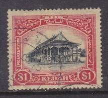MALAYA: KEDAH: 1912, $1, Black + Red On Yellow, Used - Kedah