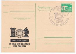 Germany Deutschland, Chess 1984, 60 Jahre Welt-Schachbund, Canceled In Rudersdorf, FIDE - Scacchi
