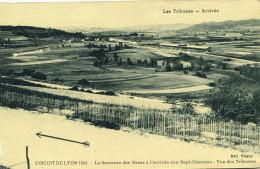 Circuit Course Automobile Lyon 1924 La Descente Esses à L´arrivée Aux Sept Chemins Vue Des Tribunes - Autres