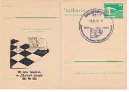 """Germany Deutschland, Chess 1983, 100 Jahre Schachclub Im """"Schachdorf Strobeck"""" - Scacchi"""