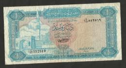 [NC] LIBYA - CENTRAL BANK Of LIBYA - 1 DINAR (1972) - M. Gaddafi - Libia