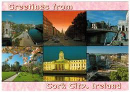 CARTOLINA - IRLANDA - IRELAND - Greetings From Cork City - Viaggiata Per Les Deux Alpes - Cork