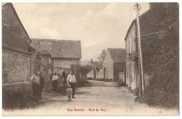 """Cpa: 60 ROY BOISSY (ar. Beauvais) Rue De Roy (Animée, Café Maréchalerie """"Dufossé"""", Cheval) 1947 - France"""