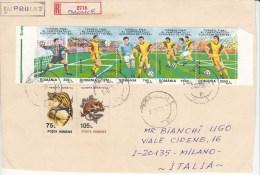 FUSSBALL-FOOTBALL-SOCCER- CALCIO, ROMANIA, 1998, FDC / Special Stamps !! - Eurocopa (UEFA)