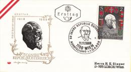 Oostenrijk - FDC 11-11-1968 - 50 Jahre Republiek Österreich - Michel 1273 - 1275 - FDC