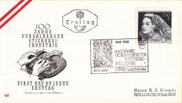 Oostenrijk - FDC 24-5-1968 - 100 Jahre Voralberger Stikereiindustrie - Michel 1261 - FDC