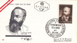 Oostenrijk - FDC 17-4-1968 - 125. Geburtstag Von Camillo Sitte - Michel 1258 - FDC