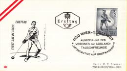 Oostenrijk - FDC 3-7-1967 - Sport (III) Hammerwerfen - Michel 1242 - FDC