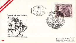 Oostenrijk - FDC 28-8-1967 - Österreichische Landwirtdchaftmesse , Ried Im Innkreis - Michel 1244 - FDC