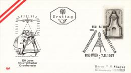 Oostenrijk - FDC 7-11-1967 - 150 Jahre Österreichischer Grundkatatser - Michel 1250 - FDC