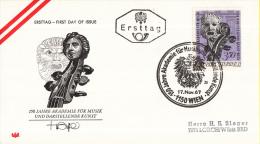 Oostenrijk - FDC 17-11-1967 - 150 Jahre Akademie Für Musik Und Darstellende Kunst, Wien - Michel 1253 - FDC