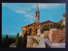 544 - Cartolina Pienza Siena Abside E Campanile Della Cattedrale Nv Postcard Carte Postale - Italie