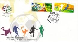 FUSSBALL-FOOTBALL-SOCCER- CALCIO, KOREA REPUBLIC, 2006, FDC / Special Postmark !! - Copa Mundial