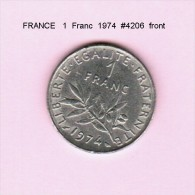 FRANCE   1  FRANC  1974  (KM # 925.1) - France