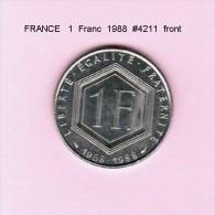 FRANCE   1  FRANC  1988  (KM # 963) - France