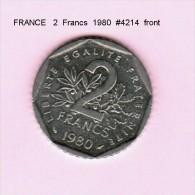 FRANCE   2  FRANCS  1980  (KM # 942.1) - France
